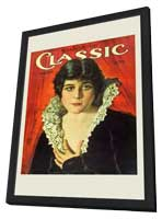 Theda Bara - 11 x 17 Motion Picture Classic Magazine Cover 1920's Style A - in Deluxe Wood Frame