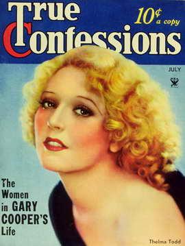 Thelma Todd - 11 x 17 True Confessions Magazine Cover 1930's