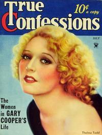 Thelma Todd - 27 x 40 Movie Poster - True Confessions Magazine Cover 1930's