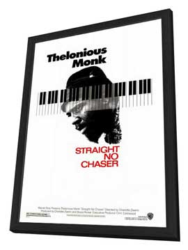 Thelonious Monk: Straight, No Chaser - 27 x 40 Movie Poster - Style A - in Deluxe Wood Frame