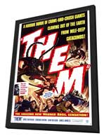 Them! - 11 x 17 Movie Poster - Style A - in Deluxe Wood Frame