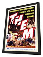 Them! - 27 x 40 Movie Poster - Style A - in Deluxe Wood Frame