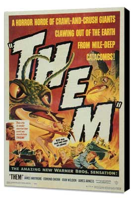 Them! - 11 x 17 Movie Poster - Style B - Museum Wrapped Canvas