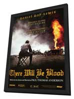 There Will Be Blood - 11 x 17 Movie Poster - Style C - in Deluxe Wood Frame