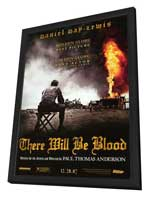 There Will Be Blood - 27 x 40 Movie Poster - Style C - in Deluxe Wood Frame