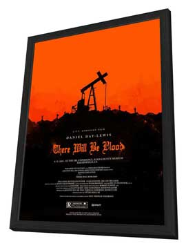There Will Be Blood - 11 x 17 Movie Poster - Style J - in Deluxe Wood Frame