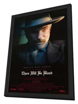 There Will Be Blood - 27 x 40 Movie Poster - Style B - in Deluxe Wood Frame