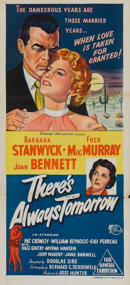 There's Always Tomorrow - 13 x 30 Movie Poster - Australian Style A