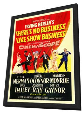 There's No Business Like Show Business - 11 x 17 Movie Poster - Style A - in Deluxe Wood Frame