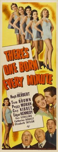 There's One Born Every Minute - 14 x 36 Movie Poster - Insert Style A