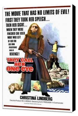 They Call Her One Eye - 27 x 40 Movie Poster - Style A - Museum Wrapped Canvas
