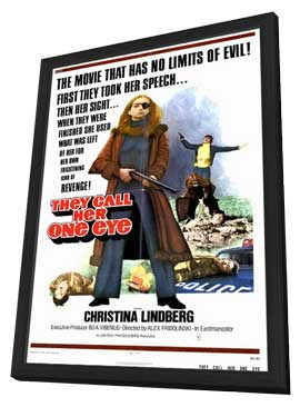 They Call Her One Eye - 11 x 17 Movie Poster - Style A - in Deluxe Wood Frame