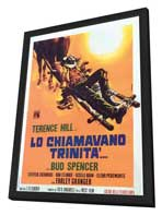 They Call Me Trinity - 27 x 40 Movie Poster - Italian Style A - in Deluxe Wood Frame