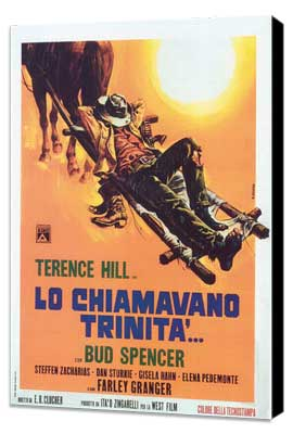 They Call Me Trinity - 27 x 40 Movie Poster - Italian Style A - Museum Wrapped Canvas