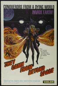 They Came from Beyond Space - 11 x 17 Movie Poster - Style A