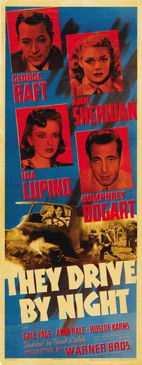 They Drive by Night - 14 x 36 Movie Poster - Insert Style A