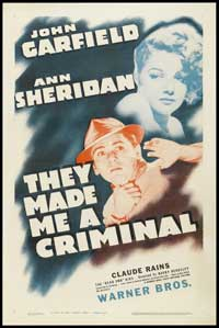 They Made Me a Criminal - 27 x 40 Movie Poster - Style B