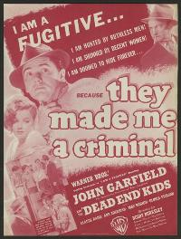 They Made Me a Criminal - 27 x 40 Movie Poster - Style D