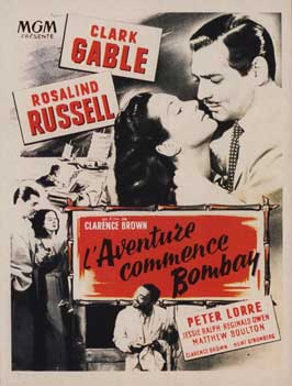 They Met in Bombay - 11 x 17 Movie Poster - French Style A