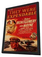 They Were Expendable - 11 x 17 Movie Poster - Style B - in Deluxe Wood Frame