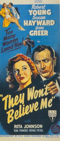 They Won't Believe Me - 27 x 40 Movie Poster - Style A