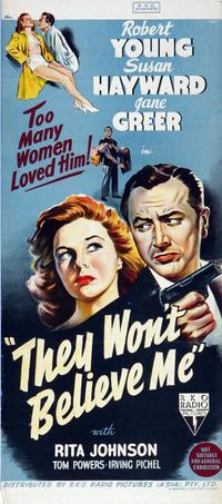 They Won't Believe Me - 14 x 36 Movie Poster - Insert Style A