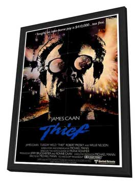 Thief - 27 x 40 Movie Poster - Style A - in Deluxe Wood Frame