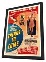 Things to Come - 27 x 40 Movie Poster - Style A - in Deluxe Wood Frame