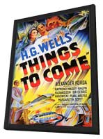 Things to Come - 11 x 17 Movie Poster - Style B - in Deluxe Wood Frame