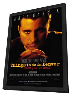 Things to Do in Denver When You're Dead - 11 x 17 Movie Poster - Style B - in Deluxe Wood Frame