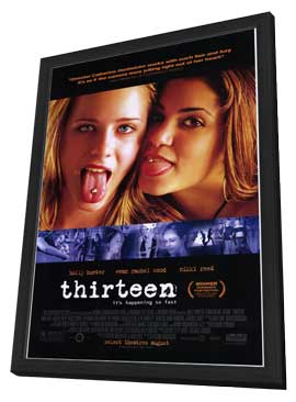 Thirteen - 27 x 40 Movie Poster - Style A - in Deluxe Wood Frame