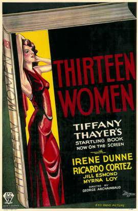 Thirteen Women - 11 x 17 Movie Poster - Style A