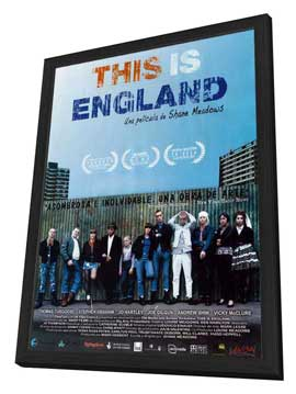 This Is England - 27 x 40 Movie Poster - Spanish Style A - in Deluxe Wood Frame