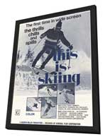 This is Skiing - 11 x 17 Movie Poster - Style A - in Deluxe Wood Frame