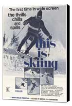 This is Skiing - 11 x 17 Movie Poster - Style A - Museum Wrapped Canvas