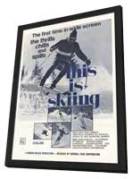This is Skiing - 27 x 40 Movie Poster - Style A - in Deluxe Wood Frame