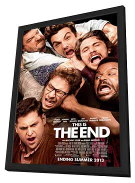This Is the End - 11 x 17 Movie Poster - Style A - in Deluxe Wood Frame