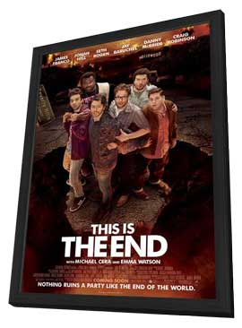 This Is the End - 11 x 17 Movie Poster - Style B - in Deluxe Wood Frame