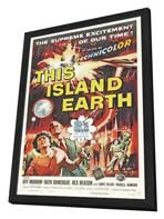 This Island Earth - 27 x 40 Movie Poster - Style B - in Deluxe Wood Frame