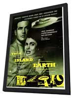 This Island Earth - 11 x 17 Movie Poster - UK Style A - in Deluxe Wood Frame
