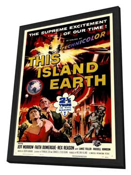 This Island Earth - 11 x 17 Movie Poster - Style C - in Deluxe Wood Frame