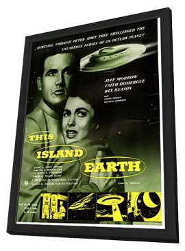 This Island Earth - 27 x 40 Movie Poster - UK Style A - in Deluxe Wood Frame
