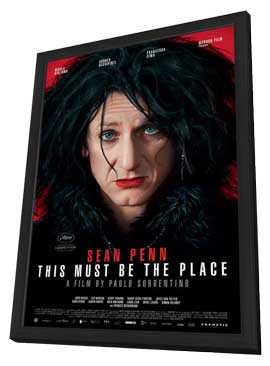 This Must Be the Place - 27 x 40 Movie Poster - Swiss Style A - in Deluxe Wood Frame