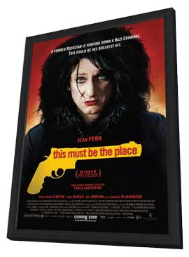 This Must Be the Place - 27 x 40 Movie Poster - Style B - in Deluxe Wood Frame