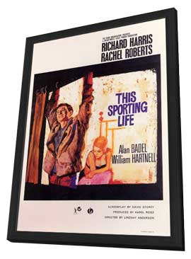 This Sporting Life - 11 x 17 Movie Poster - Style A - in Deluxe Wood Frame