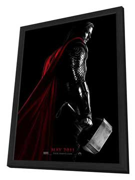 Thor - 11 x 17 Movie Poster - Style C - in Deluxe Wood Frame