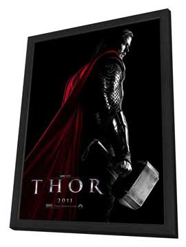 Thor - 27 x 40 Movie Poster - Style C - in Deluxe Wood Frame