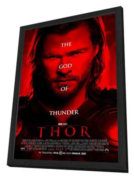 Thor - 27 x 40 Movie Poster - Style D - in Deluxe Wood Frame