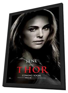 Thor - 11 x 17 Movie Poster - Style P - in Deluxe Wood Frame