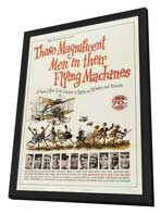 Those Magnificent Men in Their Flying Machines - 11 x 17 Movie Poster - Style A - in Deluxe Wood Frame